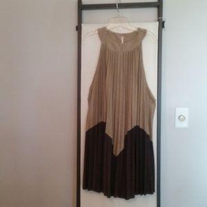 New Free People  Pleated Dress